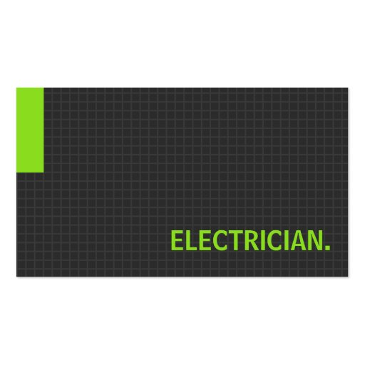 Electrician- Multiple Purpose Green Business Cards