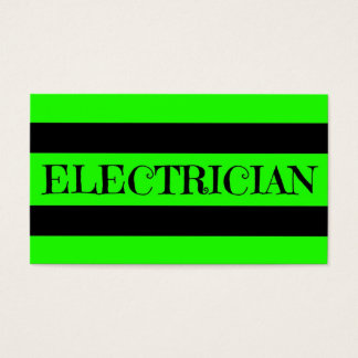 Electrician Neon Green Business Card