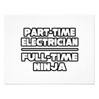 Electrician...Ninja Personalized Invites