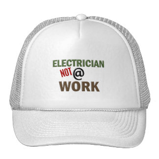 Electrician NOT At Work Mesh Hats