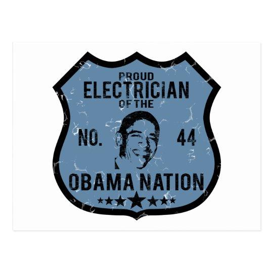 Electrician Obama Nation Postcard
