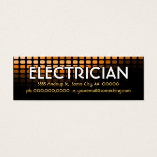 electrician orange meters mini business card
