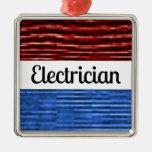Electrician Patriotic Christmas Ornament