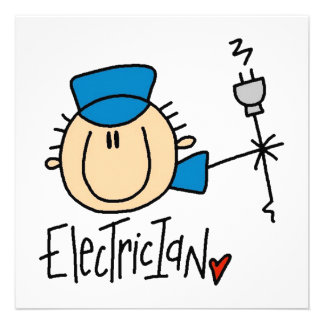 Electrician Personalized Announcement