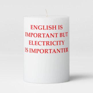 ELECTRICIAN PILLAR CANDLE