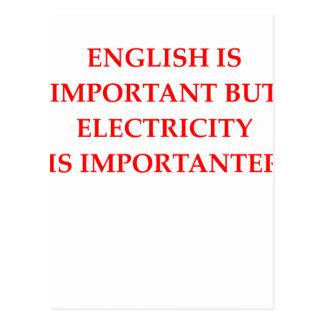 ELECTRICIAN POSTCARD