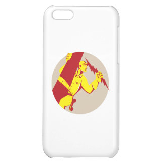 Electrician Power Lineman Telephone Repairman Retr Case For iPhone 5C