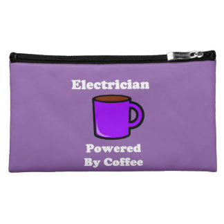 """""""Electrician"""" Powered by Coffee Cosmetic Bag"""