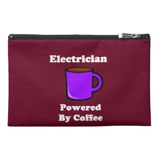 """""""Electrician"""" Powered by Coffee Travel Accessory Bag"""