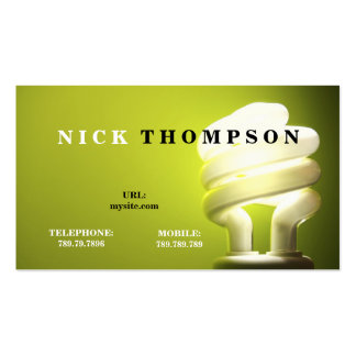 Electrician Repairman Light Bulb Repair Double-Sided Standard Business Cards (Pack Of 100)