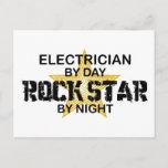 Electrician Rock Star by Night Postcard