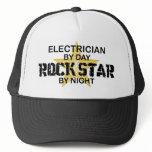 Electrician Rock Star by Night Trucker Hat