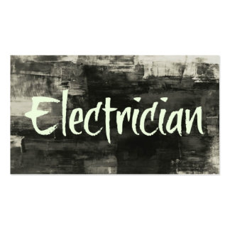 Electrician Rustic Business Card
