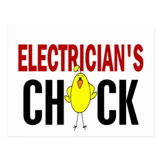 Electrician's Chick Postcard