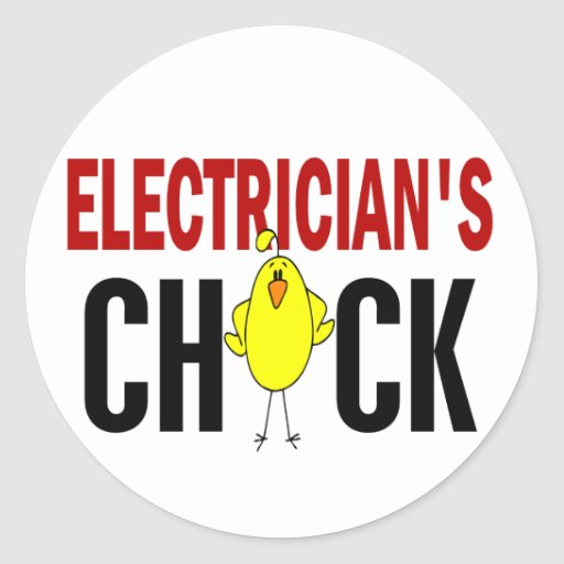 Electrician's Chick Stickers
