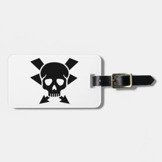 Electrician skull luggage tag