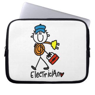 Electrician Stick Figure Laptop Sleeve