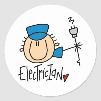 Electrician Round Stickers