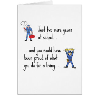 Electrician to Plumber apparels Greeting Cards