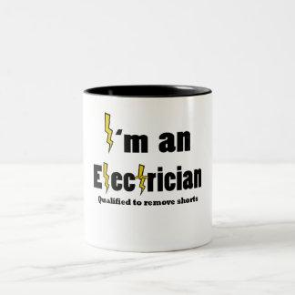 Electrician Two-Tone Coffee Mug
