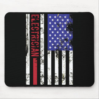 Electrician US FLag Mouse Pad