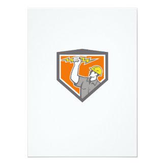 Electrician Wield Lightning Bolt Side Crest Custom Announcement