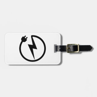 Electrician wire luggage tag