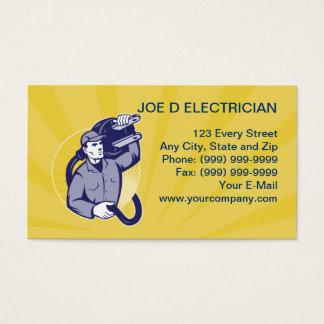 electrician worker repairman business card