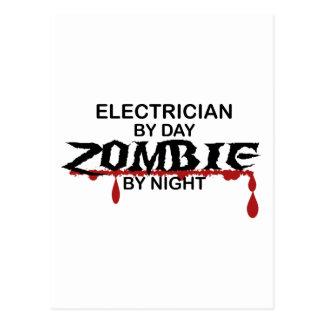 Electrician Zombie Postcard