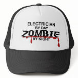 Electrician Zombie Trucker Hat