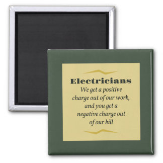 Electricians 2 Inch Square Magnet