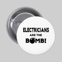 Electricians Are The Bomb! Button