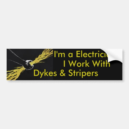 Electricians bumper sticker