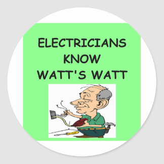 electricians classic round sticker