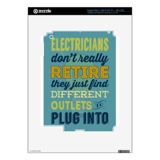 Electricians Don't Really Retire-Humor iPad 3 Skins