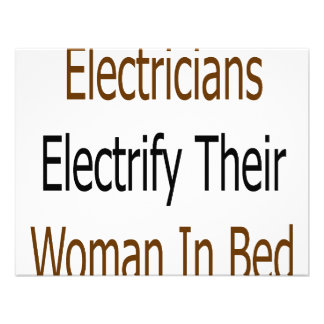 Electricians Electrify Their Woman In Bed Personalized Invites