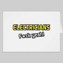Electricians ... F-ck Yeah! Card