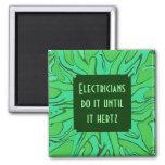 electricians hertz joke refrigerator magnet