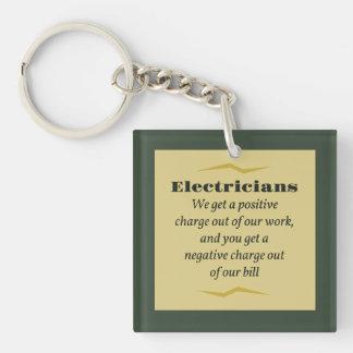 Electricians Acrylic Keychain
