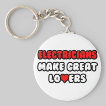 Electricians Make Great Lovers Basic Round Button Keychain