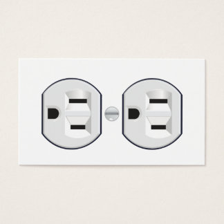 Electrician's outlet business card design