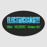electricians oval sticker