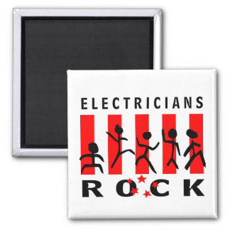 Electricians Rock 2 Inch Square Magnet