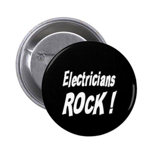 Electricians Rock! Button
