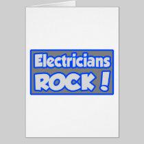 Electricians Rock! Card