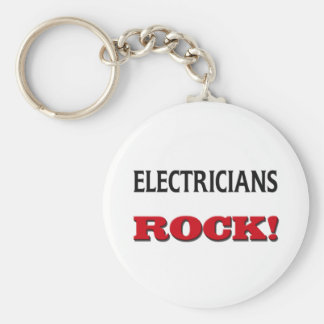 Electricians Rock Keychain