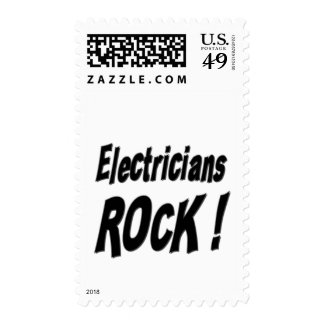 Electricians Rock ! Postage Stamps