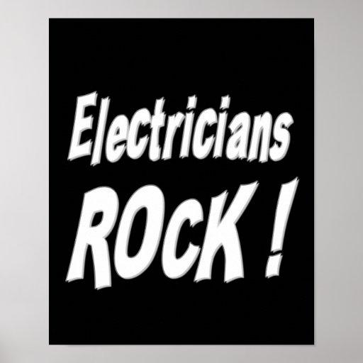 Electricians Rock! Poster Print