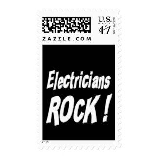 Electricians Rock ! Stamp