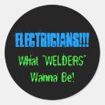 electricians round sticker